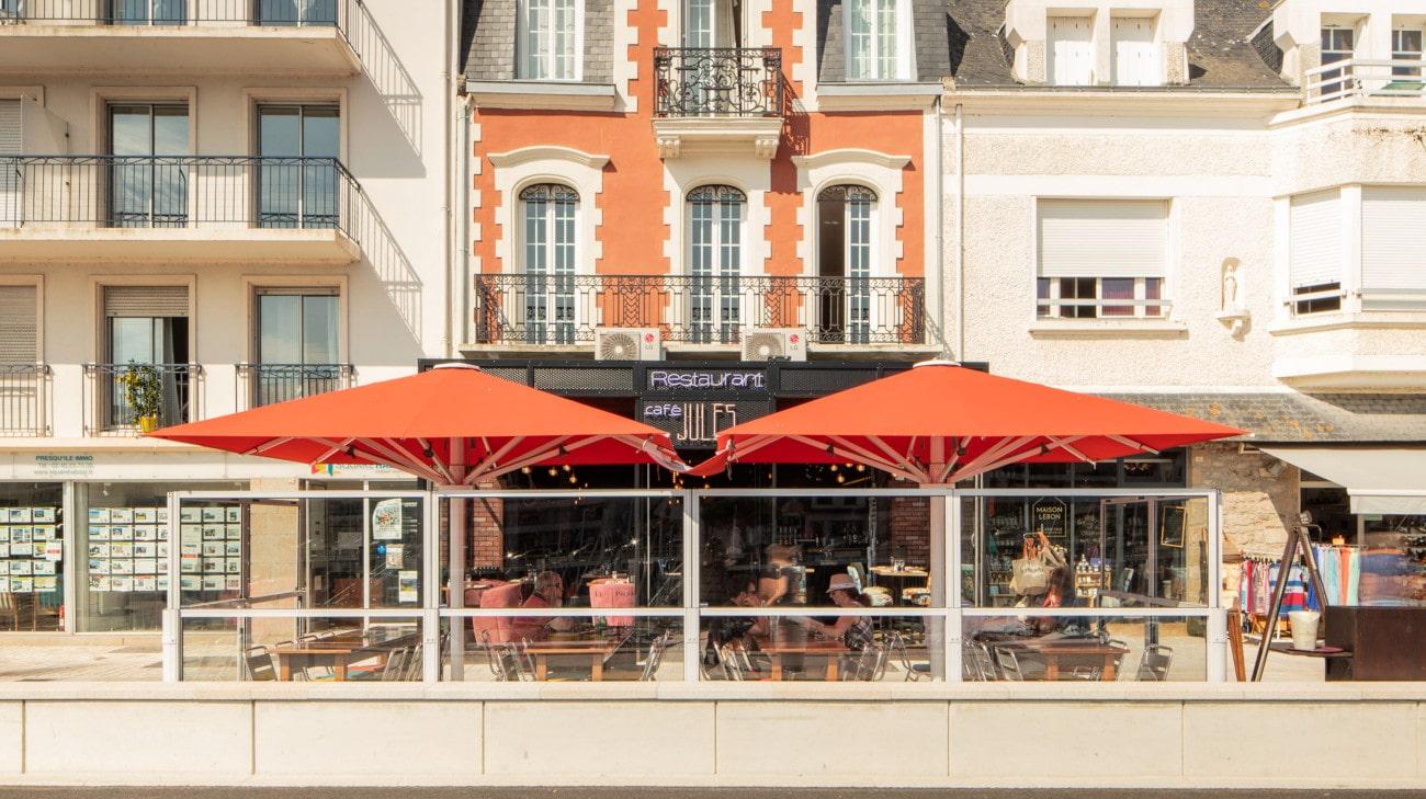 Pare-Vent Télescopique - Café Jules au Pouliguen