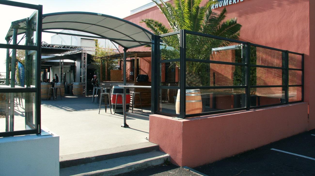 Pare-Vent terrasse restaurant - Parevent vitré Horizon - French Pub - 0033-min