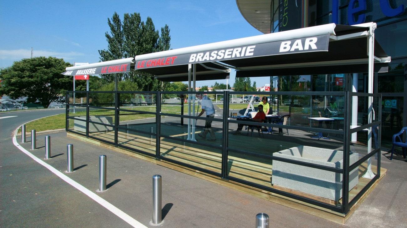 Pare-Vent terrasse restaurant - Parevent vitré Horizon - Le Chalet 49 - 0026-min