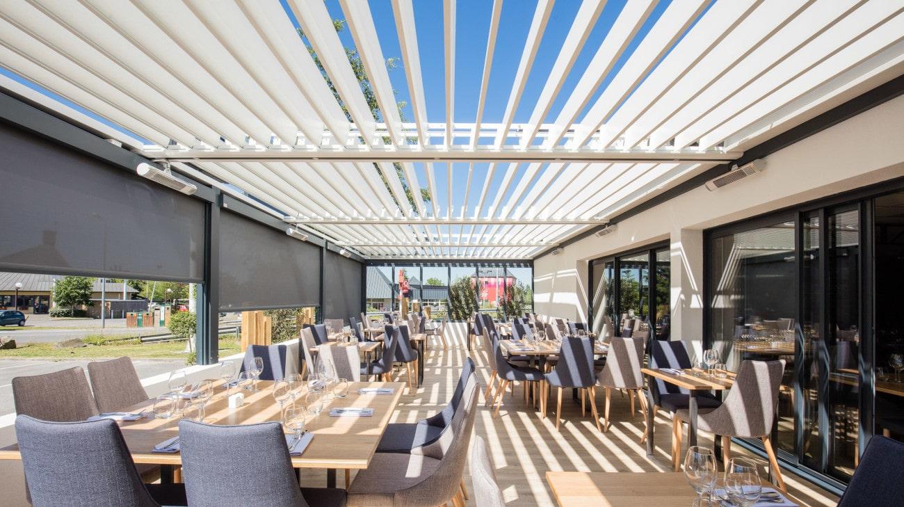 Pergola Bio-climatique Restaurant Le Butcher