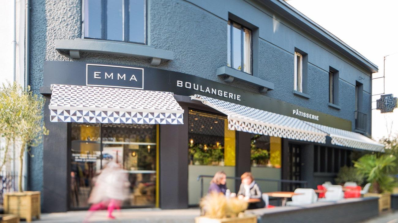Store Banne Antibes - Boulangerie Emma à Nantes (44) par Espacio