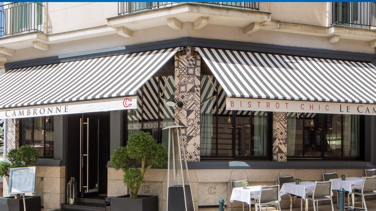 Store Banne Professionnel - Store restaurant - Store Banne Madrid spécial CHR - Restaurant Le Cambronne HD-1-min