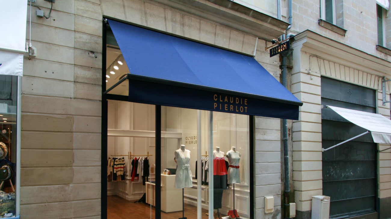 Store Professionnel - Store pour magasin - Store a Projection - Magasin Claudie Pierlot Nantes - Bannette a projection - 3580x1200-0005-min