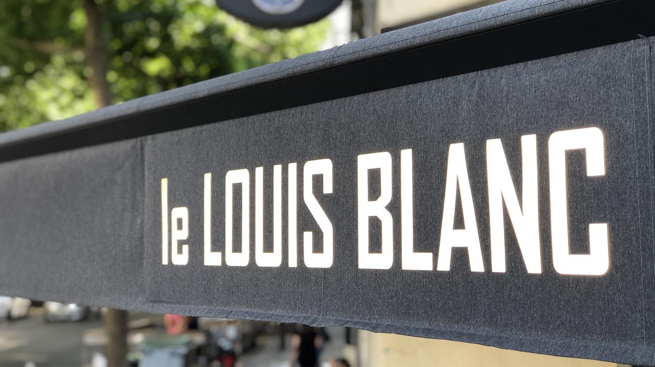 Lambrequin Lumineux au restaurant Le Louis Blanc à Nantes (44) par Espacio