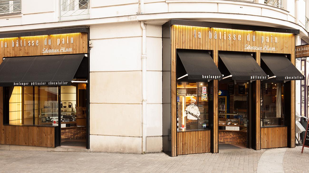 Store Bannette à Projection : Boulangerie Allaire à Nantes (44) par Espacio