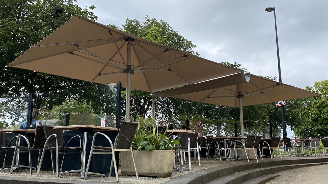 Parasols Style au Waldeck à Nantes par Espacio